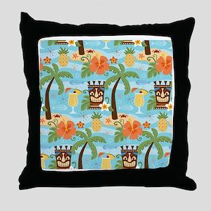 Tiki Island Throw Pillow