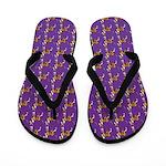 Ibizan Hound Pattern Flip Flops