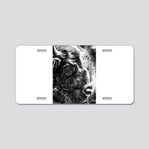 bison Aluminum License Plate