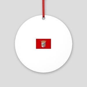 Salamanca, Spain Flag Ornament (Round)