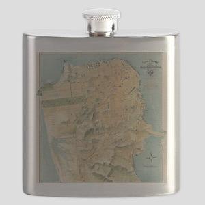 Vintage Map of San Francisco (1915) Flask