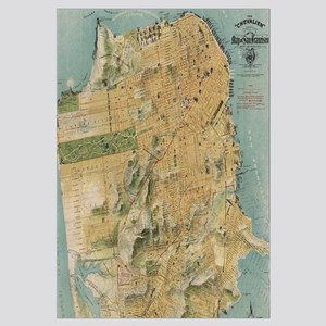 Vintage Map of San Francisco (1915)