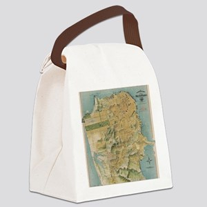 Vintage Map of San Francisco (191 Canvas Lunch Bag