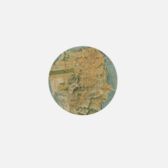 Vintage Map of San Francisco (1915) Mini Button