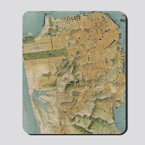 Vintage Map of San Francisco (1915) Mousepad