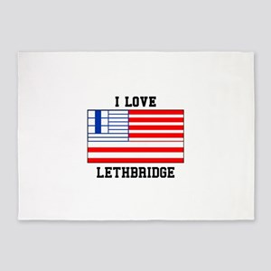 I Love Lethbridge 5'x7'Area Rug