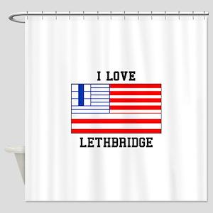 I Love Lethbridge Shower Curtain