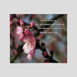 Poem from Rumi 2 Throw Blanket