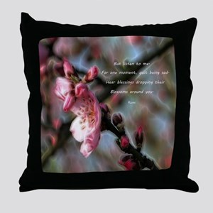 Poem from Rumi 2 Throw Pillow