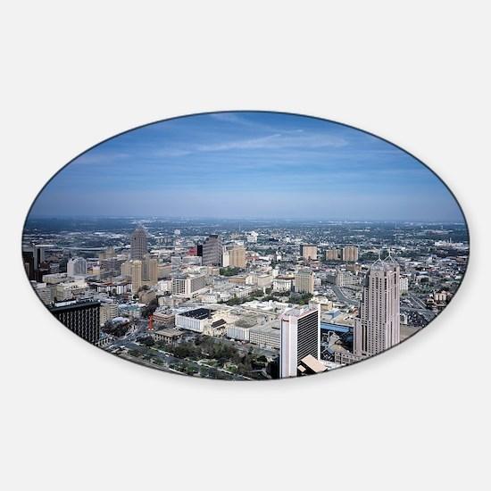 San Antonio Texas Skyline Sticker (Oval)