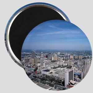 San Antonio Texas Skyline Magnet