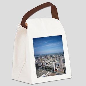 San Antonio Texas Skyline Canvas Lunch Bag
