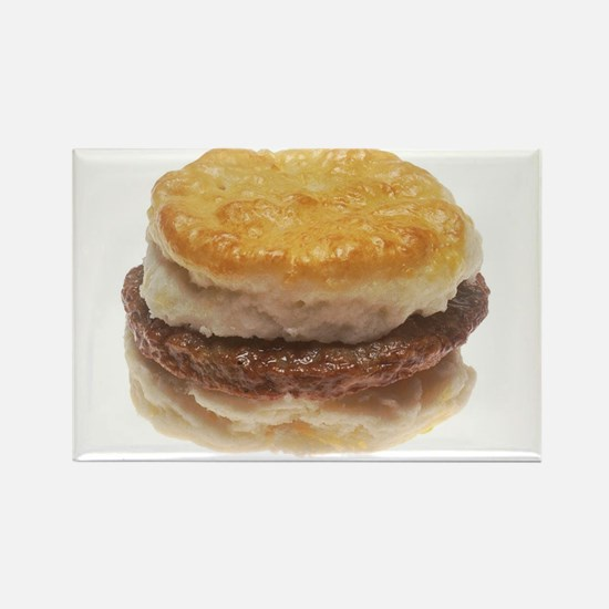 Sausage Biscuit Rectangle Magnet