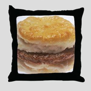 Sausage Biscuit Throw Pillow