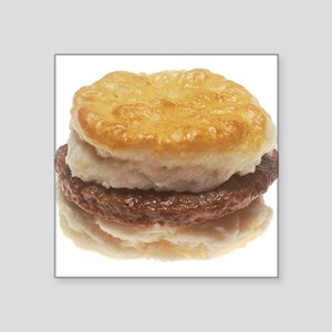 "Sausage Biscuit Square Sticker 3"" x 3"""