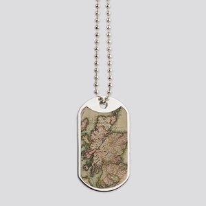 Vintage Map of Scotland (1814) Dog Tags