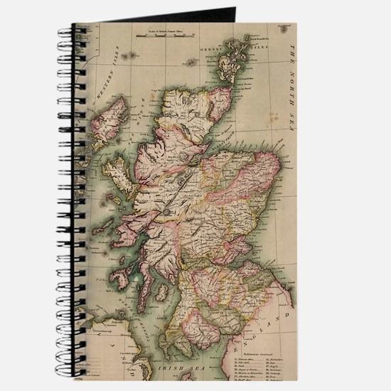 Vintage Map of Scotland (1814) Journal