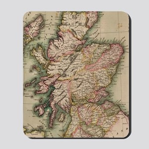 Vintage Map of Scotland (1814) Mousepad