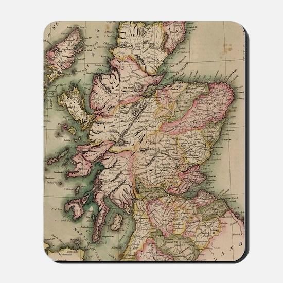 Vintage Map of Scotland (1814) Mousepad
