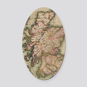 Vintage Map of Scotland (1814) Oval Car Magnet