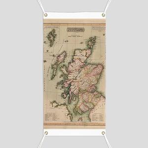 Vintage Map of Scotland (1814) Banner