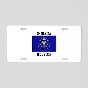 Indiana Hoosier Aluminum License Plate