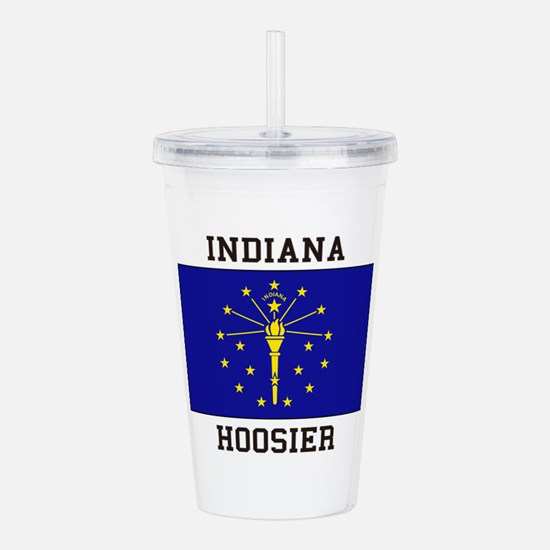 Indiana Hoosier Acrylic Double-wall Tumbler