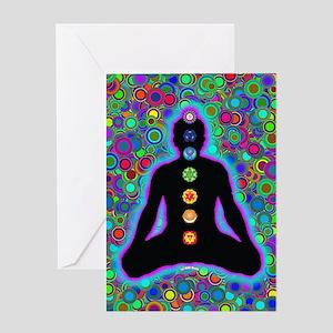 Chakra Energy Greeting Card
