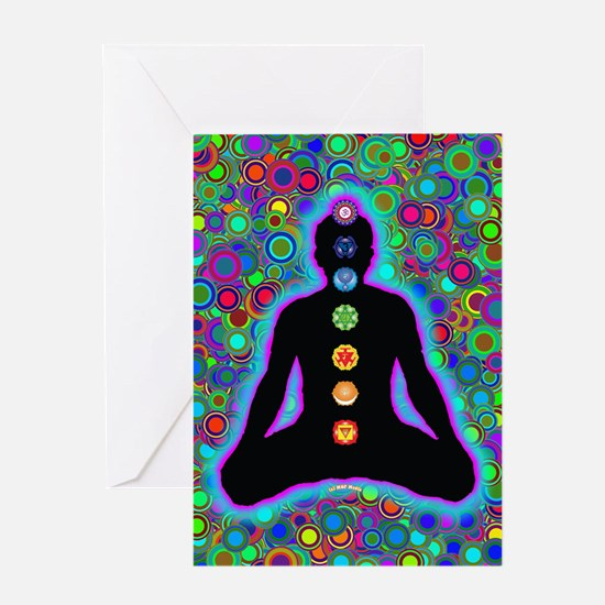 Chakra Energy Greeting Card