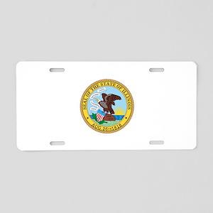 Illinois State Seal Aluminum License Plate