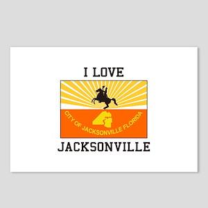 I Love Jacksonville Postcards (Package of 8)