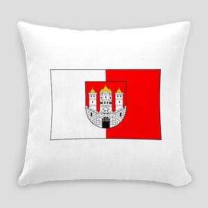 Salzburg, Austria Flag Everyday Pillow