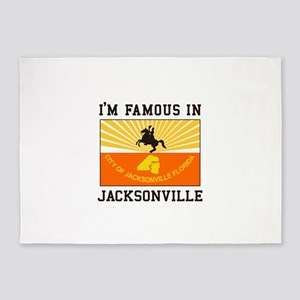 Famous Jacksonville 5'x7'Area Rug
