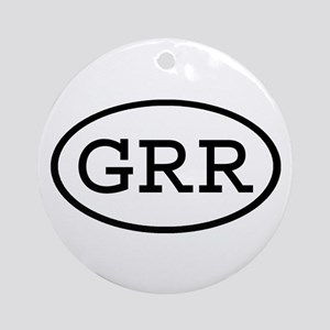 GRR Oval Ornament (Round)