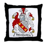 Wendesley Family Crest Throw Pillow