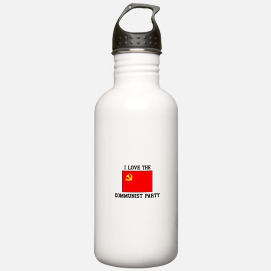 I Love Communist Party Water Bottle