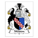 Welston Family Crest Small Poster