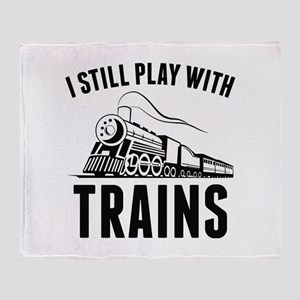 I Still Play With Trains Stadium Blanket