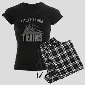 I Still Play With Trains Women's Dark Pajamas
