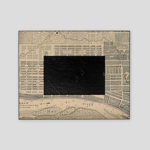 Vintage Map of Savannah Georgia (181 Picture Frame