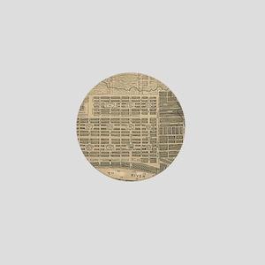 Vintage Map of Savannah Georgia (1818) Mini Button