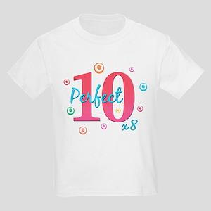 Perfect 10 x8 Kids Light T-Shirt