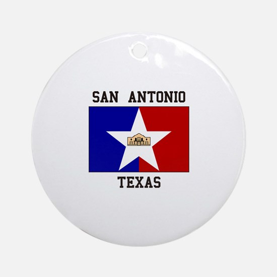 San Antonio Texas Ornament (Round)