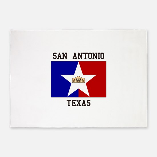 San Antonio Texas 5'x7'Area Rug