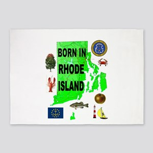 RHODE ISLAND BORN 5'x7'Area Rug
