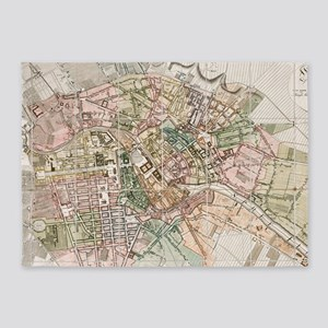 Vintage Map of Berlin (1811) 5'x7'Area Rug
