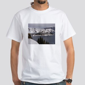 Snowy Lake White T-Shirt