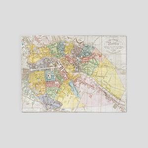 Vintage Map of Berlin (1846)  5'x7'Area Rug