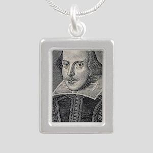 William Shakespeare Port Silver Portrait Necklace