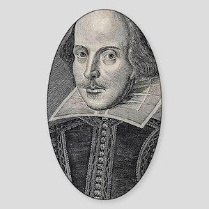William Shakespeare Portrait Sticker (Oval)